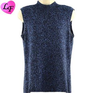 Sleeveless Sweater Top Marled Blue by Emma James